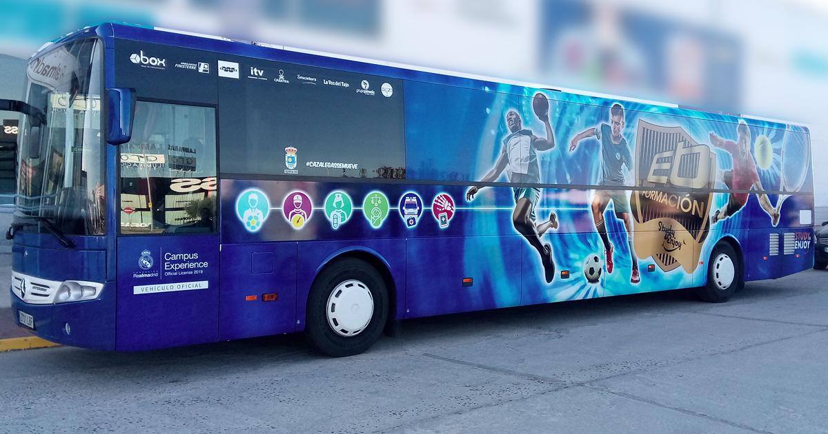 ruta de autobús ebora formación
